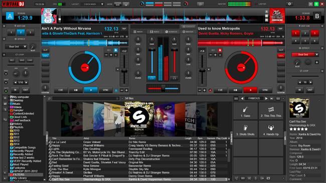 Virtual DJ Main Control Panel